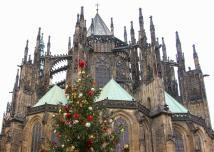 St. Vitus Cathedral at Christmas